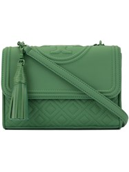 Tory Burch Fleming Matte Convertible Shoulder Bag Green