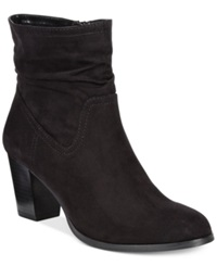 Style And Co. Gaillard Scrunch Booties Women's Shoes Black Suede