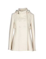 Duck Farm Coats And Jackets Coats Women Ivory