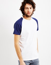 The Idle Man Short Sleeve Raglan T Shirt Blue