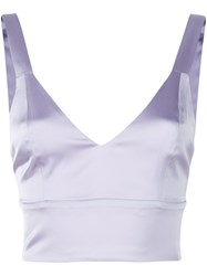 Murmur Cropped Vest Top Pink And Purple