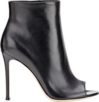 Gianvito Rossi Women's Leather Lais Booties Black Size 6.5
