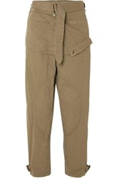 J.W.Anderson Jw Anderson Belted Cotton Canvas Pants Army Green