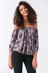 Truly Madly Deeply Bardot Off The Shoulder Top Black Multi
