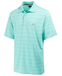 Greg Norman For Tasso Elba Men's 5 Iron Classic Striped Performance Polo Only At Macy's Aqua