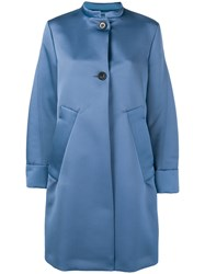 Dorothee Schumacher Oversized Buttoned Coat Blue