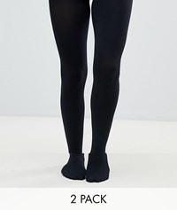 Gipsy 120 Denier Opaque 2 Pack Tights Black