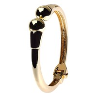 Adele Marie Hinged Bangle Gold