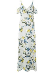 Dorothy Perkins Multi Coloured Cold Shoulder Ruffle Maxi Dress