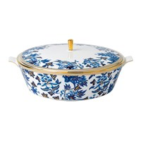 Wedgwood Hibiscus Covered Vegetable Dish