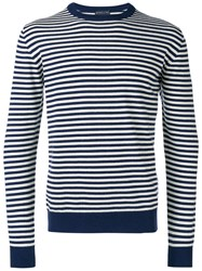 Etro Striped Sweatshirt Blue
