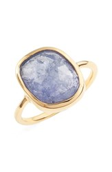 Leah Alexandra Women's Moonstone Cocktail Ring Tanzanite Gold