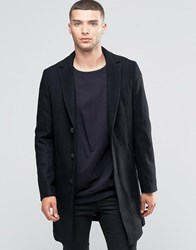 Sisley Classic Wool Mix Overcoat Black100