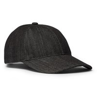 A.P.C. Aaron Denim Baseball Cap Black