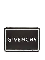 Givenchy Graffiti Logo Leather Pouch Black