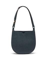 Valextra Hobo Weekend Medium Leather Bag Blue