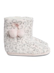 Therapy Leopard Slipper Bootie Pink