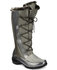 Sporto Predator Lace Up Faux Fur Cold Weather Boots Women's Shoes Graphite