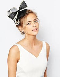 Coast Pill Box Rose Fascinator Black