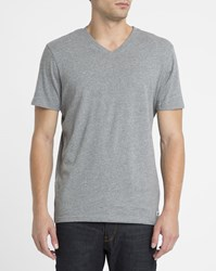 Element Grey Basic V Neck T Shirt