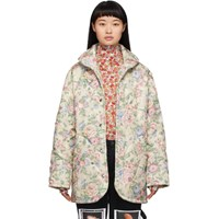 Collina Strada Off White Floral Handle With Care Puffer