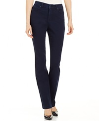 Charter Club Petite Straight Leg Jeans Dark Wash Only At Macy's Rinse