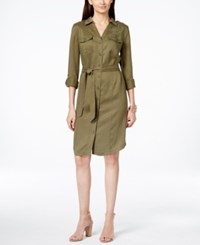 Inc International Concepts Belted Shirtdress Only At Macy's