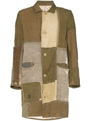 By Walid Cedric Patchwork Button Down Coat 60