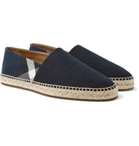Burberry Checked Canvas Espadrilles Navy