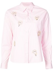 Jimi Roos Striped Shirt Pink And Purple