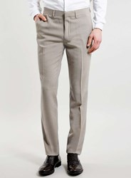 Topman Burgundy And Grey Puppytooth Skinny Suit Trousers Red
