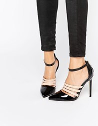 Lost Ink Dispute Strappy Ankle Strap Heeled Shoes Black Taupe