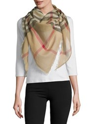 Lord And Taylor Exploded Fraas Plaid Scarf Camel
