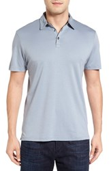 Robert Barakett Men's Batiste Pima Cotton Polo Grey