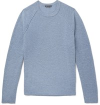 James Perse Textured Cashmere Sweater Blue