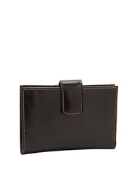 Tusk Slim Leather Indexer Wallet Black