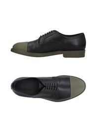Alberto Guardiani Lace Up Shoes Military Green