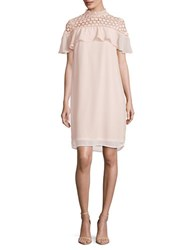 Vero Moda Crocheted Shift Dress Peach