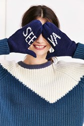 Urban Outfitters See Ya Mitten Navy
