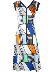 Novis Graphic Print Dress Multicolour