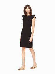 Kate Spade Flutter Sleeve Sheath Dress Black