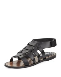Charles David Zia Leather Open Toe Sandal Black