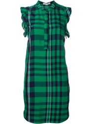 Stella Mccartney Checked Shirt Dress Green