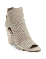 Dolce Vita Harem Open Toe Perforated Ankle Boots Sand