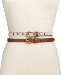 Inc International Concepts Crochet 2 For 1 Belt Only At Macy's Natural