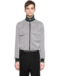 Jil Sander Pinstriped Techno Blend Jacquard Shirt