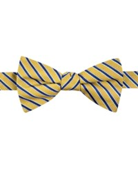 Tommy Hilfiger Men's Small Stripe Pre Tied Bow Tie Yellow