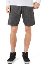 Topman Men's Cutoff Jersey Shorts Grey