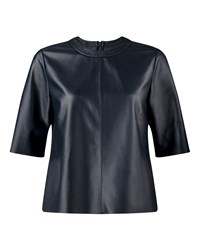 Jigsaw Leather Shell Top Grey