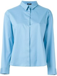 Jil Sander Navy Classic Button Up Shirt Blue